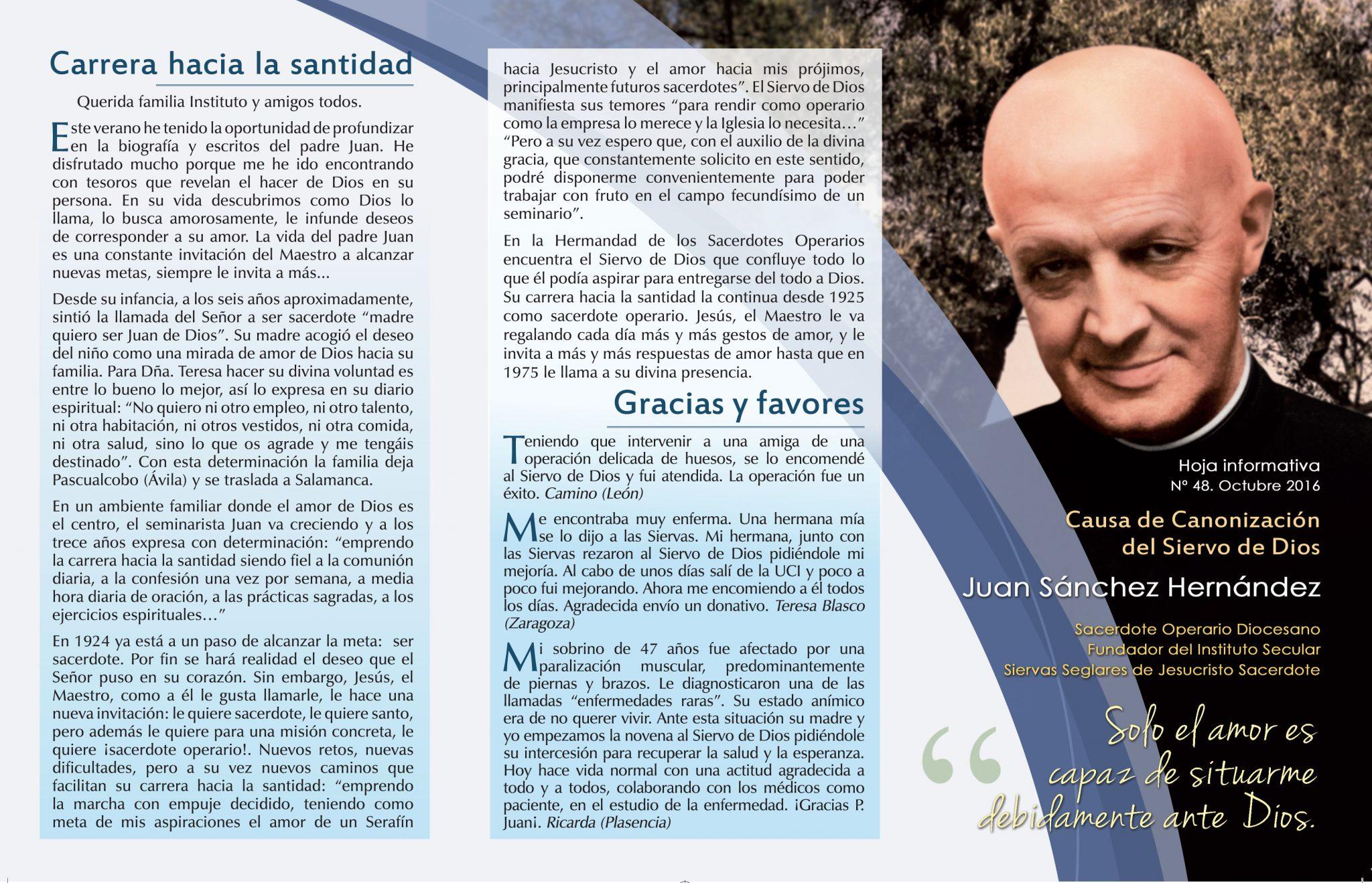 Hoja informativa nº 48.Causa de canonización