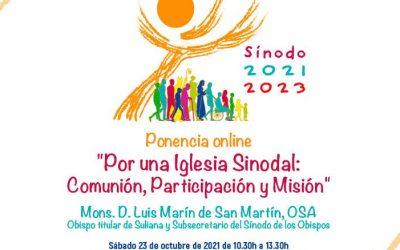 """Ponencia online: """"Por una Iglesia Sinodal: Comunión, Participación y Misión"""""""